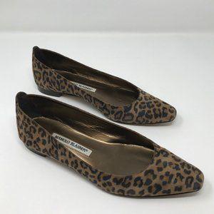 Manolo Blahnik leopard flats boho